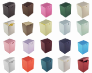 Tall Wedding Favour Boxes - Different Colours - SC11